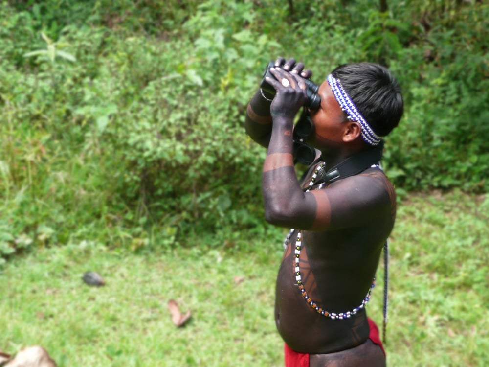Embera birder Panama