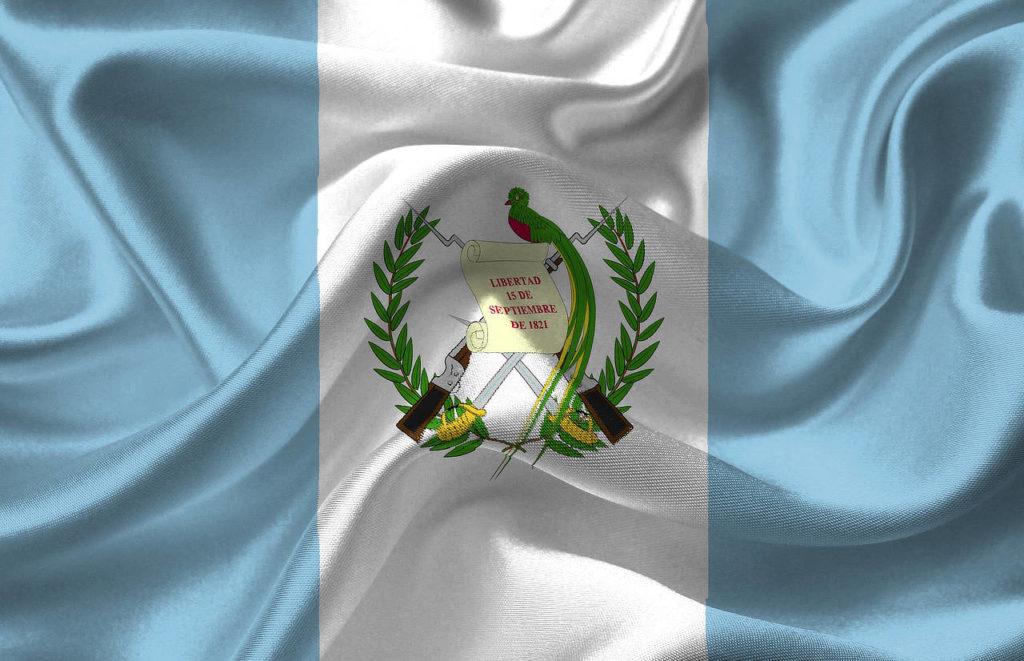 Guatemala Flag with Quetzal national bird Whitehawk Birding