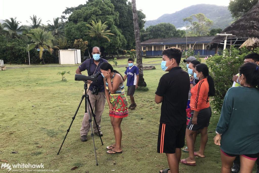Training birding guides in Darien Panama Whitehawk Birding